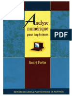 Analyse Numer i Que Pour Ingenieur s
