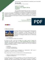 ALONSO MIGUEL, P. Calidad en investigación. «Aproximación metodológica a la mejora de las actividades de investigación» (2.a parte).