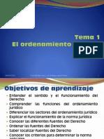 T1 - El ordenamiento Jurídico