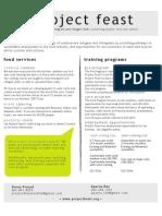 Project Feast Info Sheet