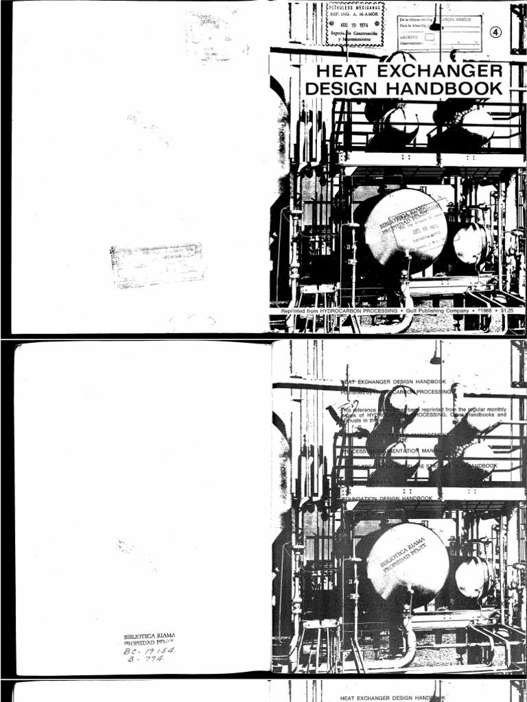 Heat Exchanger Design Handbook HP 1968