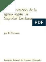 La Organización de La Iglesia según las Sagradas Escrituras - F. Navarrete