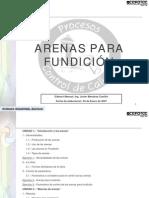 Arenas para Fundición Colegio Técnico Don Bosco