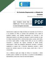 Artigo Os Contratos Empresariais e a Rela%C3%A7%C3%A3o de Consumo1