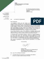 Certificado de inscripción de San Pacho