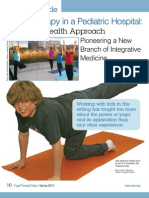 Yoga Therapy In Pediatric Hospital--featured article in the Spring 2013 issue of Yoga Therapy Today