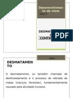 Desmatamento Controlado - Pre Trabalho
