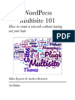WordPress Multisite 101 3 Edition