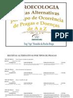 AGROECOLOGIA - CONTROLE ALTERNATIVO DE PRAGAS E DOENÇAS DE A a  Z