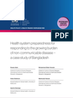 Health system preparedness for responding to the growing burden of non-communicable disease – a case study of Bangladesh (WP25)