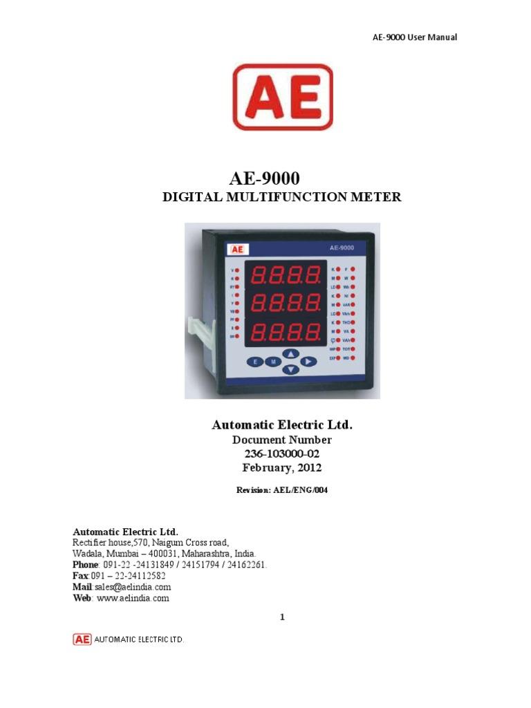 ae 9000 users manual with printer interface pdf ac power byte rh scribd com ae 9000 bm user manual pdf Instruction Manual Book