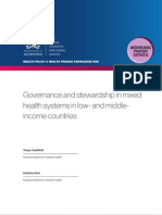 Governance and stewardship in mixed health systems in low- and middle-income countries (WP24)