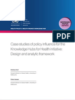 Case studies of policy influence for the Knowledge Hubs for Health initiative