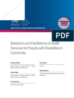 Barriers to and facilitators of health services for people with disabilities in Cambodia (WP20)