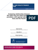 Analysing relationship between the state and non-state health care providers, with special reference to Asia and the Pacific (WP10)