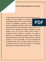 6.- El Rol Del Docente y El Rol Del Alumno en El Aula