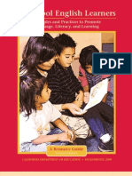 Preeschool English Learners (Principles and Practices to Promote Language, Literacy and Learning)