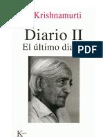 Krishnamurti Jiddu - El Ultimo Diario