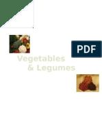 vegetables  legumes