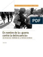 Rapport Mexique ACAT Juin 2012 ESP en Nombre de La Guerra Contra La Delincuencia Un Estudio Del Fenomeno de La Tortura en Mexico