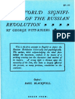George Pitt-Rivers, The World Significance of the Russian Revolution (1920)