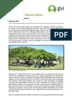Cyclone Evan Disaster Relief Achievement Report -GVI Fiji Feb 2013