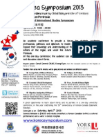 ENG_General Admission - Poster Korea Symposium - Glendon Campus - York University - General Admission