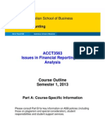 ACCT3563 Issues in Financial Reporting & Analysis - Part A_S12013(1)
