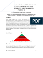 Automated Control for Risk Assessment on Unix Operating System - I