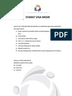 Persyaratan Visa Mesir