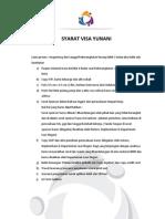 Persyaratan Visa Yunani