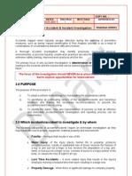 Procedure for Accident Incident Investigation