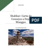 Shabkar Carta de Consejos a Depa Wangpo