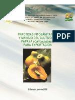 Prácticas fitosanitarias y manejo del cultivo de papaya