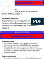 Sampling Methods & Survey