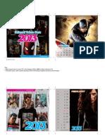 KALENDER 2013 Superheroes