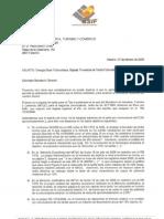 ASIF Carta SGE 2009-02-27 Pbl Tarifa