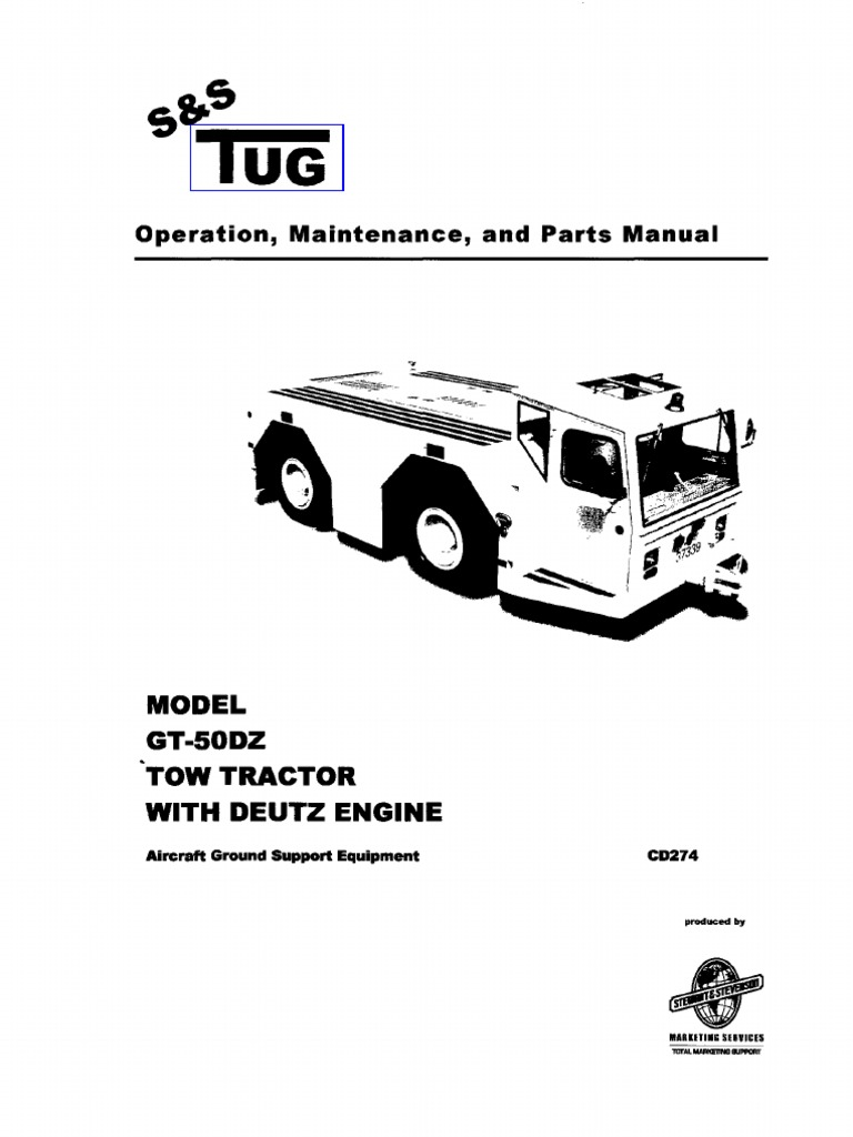 Gt-50dz Tow Tractor With Deutz Engine(Manuale Officina