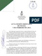 Acta Sesión Ordinaria 07-02-13