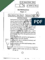 IAS Mains Mathematics 2011