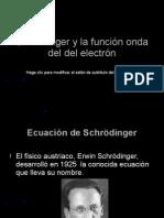 Schrödinger y la función onda del electrón