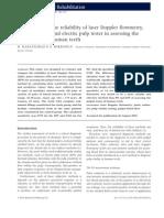 Comparison of the reliability of laser Doppler flowmetry,