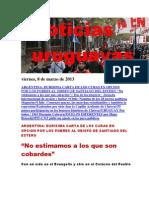 Noticias Uruguayas Viernes 8 de Marzo Del 2013
