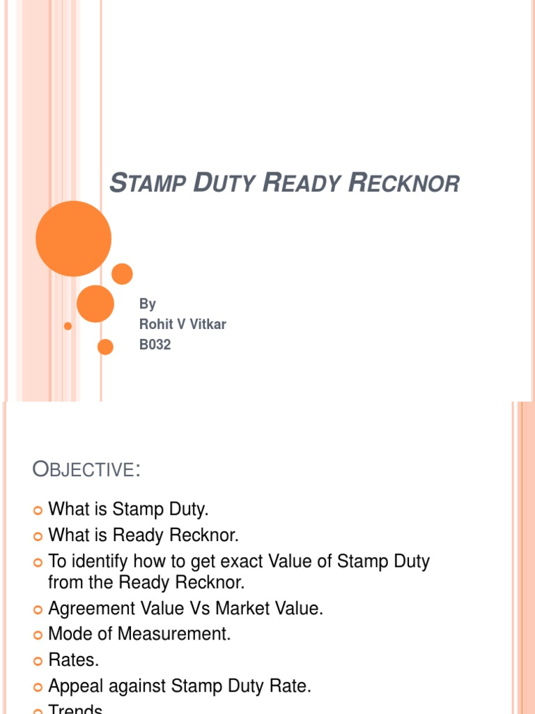 Stamp Duty Ready Recknor