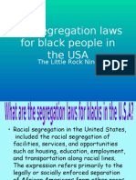 The Segregation Laws for Black People in The