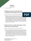 Perspektywy zastosowań technologii wideo w realizacji widowisk artystycznych i rozrywkowych