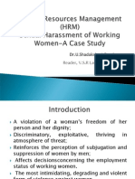 case study on sexual harassment of working women