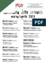 Programma Marzo-aprile 2013