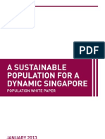 Population White Paper 2013 - A Sustainable Population for a Dynamic Singapore