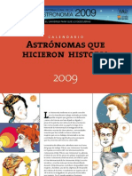Calendario 2009. Astrónomas